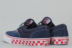 Vans Era Pro Foxing Checkers Navy / Red