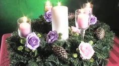 how to make an advent wreath - YouTube