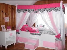 Modern Canopy Bed For Teenage Girl With Drapes Unique shape enignum modern mantra canopy bed design ideas Incredible canopy bed with curtains for small room How to Build a Canopy Bed for Your Bedroom, Bedroom Inspiration Design, Bedroom Design Trends 2017 Modern Canopy Bed, Twin Canopy Bed, Canopy Bed Curtains, Princess Canopy Bed, Bed Canopies, Girls Canopy, Bedroom Modern, Diy Canopy, Bunk Beds