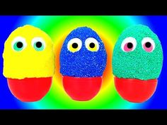Fancy Foam Pearl Clay SURPRISE EGGS Inside Out Egg Surprise Toys STOP MOTION video for kids