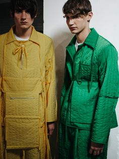 Backstage at Craig Green SS16 LCM. Photography by Chloe Le Drezen.