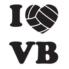 Volleyball Clip Art | Volleyball Market - I Love Volleyball Decal More