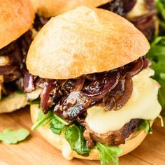 Tender and juicy steak sandwich with caramelized onions, creamy Brie and fig jam. An incredible flavor combination that's easy and elegant!