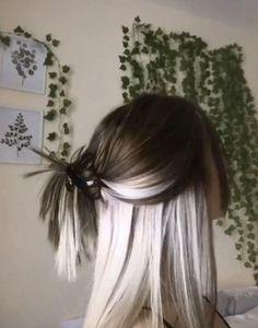 Hair Color Streaks, Hair Dye Colors, Cool Hair Color, Dye My Hair, New Hair, Hair Color Underneath, Aesthetic Hair, Grunge Hair, Hair Looks