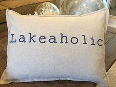 Lakeaholic Pillow 12 x 18 inch lumbar nautical coastal