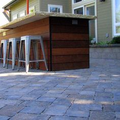 Contemporary Home Wood Outdoor Bar Design, Pictures, Remodel, Decor and Ideas