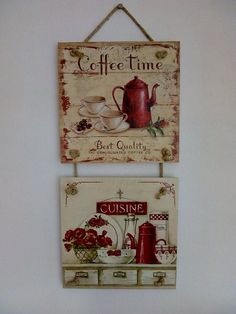 Coffee Decor Vintage House Decor Home Wall Decor Hanging Vin.- Coffee Decor Vintage House Decor Home Wall Decor Hanging Vintage Decor Gift for Kitchen Handmade Decoupage Decor Wall Art House Gift - Decoupage Art, Decoupage Vintage, Vintage Diy, Vintage Decor, Vintage Coffee, Decoupage Ideas, Arte Pallet, House Gifts, Hanging Pictures