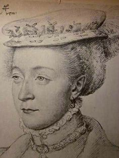 NICOLE DE SAVIGNY - Briefly mistress of King Henri II of France from 1556-1557, when the king took a break from his beloved favorite, Diane de Poitiers.