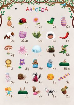 Croatian alphabet for kids Preschool Projects, Preschool Education, Preschool Learning, Preschool Activities, Teaching, Alphabet Games, Alphabet For Kids, Paper Boat Origami, Toddler Play Area