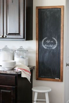 DIY Home Decor | Wall Decor | Check out the tutorial to make this HUGE DIY chalkboard!