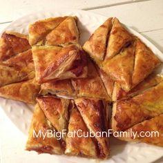 Recipe for Homemade Pastelitos de Guayaba. Cuban Food. Guava.