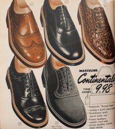 Vintage style mens shoes