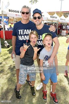 Matt Bomer and Simon Halls attend the Nanci Ryder's 'Team Nanci' participates in the 15th Annual LA County Walk to Defeat ALS at Exposition Park on October 15, 2017 in Los Angeles, California.