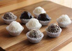 Nepečené guličky kokosové, makové a čoko bez cukru, recepty, Drobné pečivo | Tortyodmamy.sk