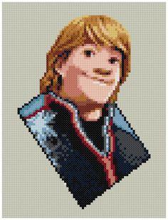 PDF Cross Stitch pattern 0208.Kristoff Frozen by PIXcross