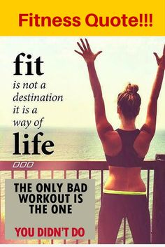 """Fitness Quote """"Healthy Lifestyle"""""""