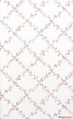 Tapete Rasch Textil Blooming Garden Satintapete 001157 Blumen Kariert creme Tapeten Rasch Textil Blooming Garden