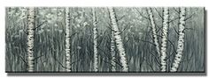 Wieco Art - the Birch Forest - Modern Giclee Canvas Prints Artwork Abstract Landscape Picture Photo Oil Paintings Reproduction on Canvas Wall Art for Home Office Wall Decor 48x16inch