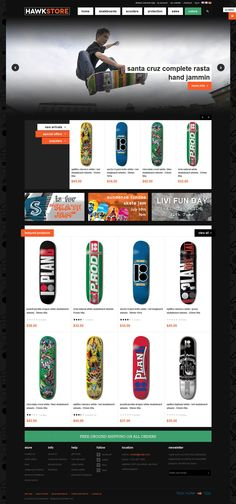 JM Hawkstore is a professional and modern stylish responsive Magento theme especially designed for street sports store website. JM Hawkstore is a responsive B Plan, How To Plan, Skateboard Store, Skate Store, Mega Menu, Joomla Templates, Seo Optimization, Responsive Layout, Accessories Store
