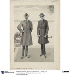 Herren in Mantel, 1920