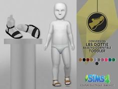LBS DOTTIE SANDALS - TODDLER - The Sims 4 Download - SimsDomination