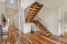 Modern wood staircase impressive modern wooden stairs a new look at