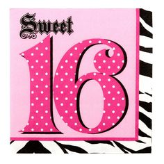 3 Ply Lunch Napkins Sweet 16 Super Stylish/Case of 192