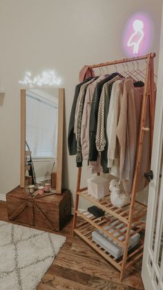 My Home Office – Lipstick and Bows Clothing Rack Bedroom, Room Makeover, Clothing Rack, Minimalist Room, Small Bedroom Decor, Home Decor, Small Room Bedroom, Room Decor Bedroom, Bedroom Decor