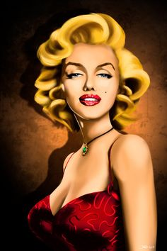 Marilyn Monroe portrait caricature by Dawid-B  / This image first pinned to Marilyn Monroe art board here: https://www.pinterest.com/fairbanksgrafix/marilyn-monroe-art/ #Art #MarilynMonroe