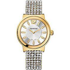 Piazza Mesh Yellow Gold Tone Watch!