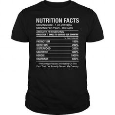 Awesome Tee [ONLY 2 DAYS LEFT] Female Veteran Nutrition Facts Tshirt T-Shirts