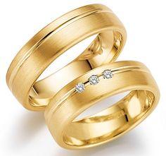 klassieke geelgouden ringen met 3 diamanten  Juwelier Goudsmederij Mariska Timmer Geldermalsen