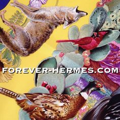 "World's most expensive #turkey bird? Designed by our favorite american artist Kermit Oliver for Hermes Paris  is this most wanted silk scarf, available now in our online store http://forever-hermes.com and titled #Texas #wildlife ""Faune et Flore du Texas"" featuring endemic fauna & flora. The incredible detail of painting makes them look almost alive, the #rabbit #birds #horse #armadillo #squirrel #poultry #squirrel #boar #wolf #deer and would be a mesmerizing wall decoration if framed…"