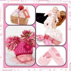 Mother and Baby Girl hamper spoiling both special people from tinyfeethampers.co.uk The ideal baby shower gift. Deliver UK. #babygift #babygirl