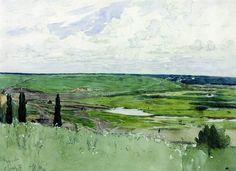 """Ilya Repin: """"Landscape Near Chuguevo"""""""