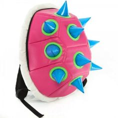 67107ce1f2 Pink Spiked Shell Backpack Bookbag