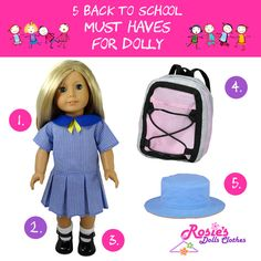 Five Back to School Must Haves for Dolly! School Uniform White Ankle Socks Black Mary Jane Shoes Backpack Hat Get your doll ready for school now! Boy Doll, Girl Doll Clothes, Girl Dolls, Our Generation Doll Clothes, Black Mary Jane Shoes, American Girl Wellie Wishers, Wellie Wishers Dolls, Baby Alive Dolls, Cabbage Patch Kids Dolls