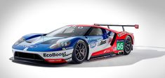 The new Ford GT race car for WEC and Le Mans competition unveiled Friday at Le Mans, France. The Ford GT race car will debut in and will be campaigned by Chip Ganassi Racing. Ford Gt40, Ford Mustang, Mustang Cobra, Ford Motor Company, Gt Cars, Race Cars, Sport Cars, Supercars, Pickup Trucks