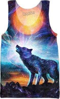 774b7acdfc572d The Magic Howl Tank Top. WolfMagicLlamasTank TopsEdmFantasyT Shirt AnimalFashion