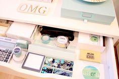 Organize Supplies in Desk Drawer