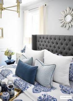 Blue & White Bedding