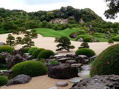 /\ /\ . Adachi Museum of Art Gardens, Yasugi, Shimane, Japan