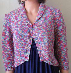 Shawl Collar Bolero Knitting Pattern