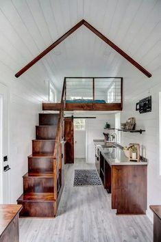 Beautiful view of Rodanthe a 24 ft. tiny house on wheels by Modern Tiny Living The post Beautiful view of Rodanthe a 24 ft. tiny house on wheels by Modern Tiny Living appeared first on Decoration. Tiny House Loft, Best Tiny House, Tiny House Living, Tiny House Plans, Tiny House On Wheels, Tiny House Design, Modern Tiny House, Small Home Design, Tiny Home Floor Plans