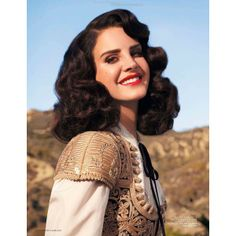 Lana Del Rey L'Officiel Paris 10 found on Polyvore