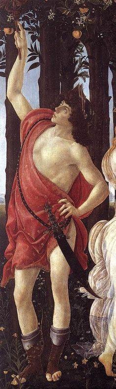 Sandro Botticelli, Primavera (Mercurio), tempera su tavola, 1482, Galleria degli Uffizi, Firenze