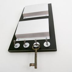 Wall Decor NIGHT black modern wall mount mail holder by PIGandFiSH, $98.00