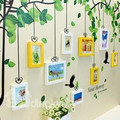 Sweet Memory Tree Wall Photo Frame Set with Wall Stickers - Sweet Memory Tree Wall Photo Frame Set with Wall Stickers on sale, Buy Retail Price Wall Photo Fram -
