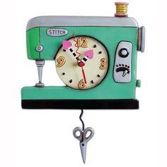Stitch and Sew Clock Art by Allen Designs