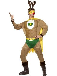 Rudolph the Red Nosed Reindeer, had a very...muscly chest? #rudolph #christmas #fancydress www.fancydressfast.com